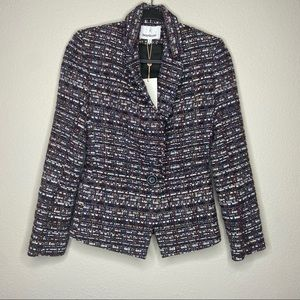 NWT HEARTLOOM Tweed Amelia Blazer Black XS